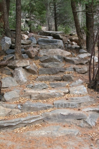 peaks to plains trail rock stairs