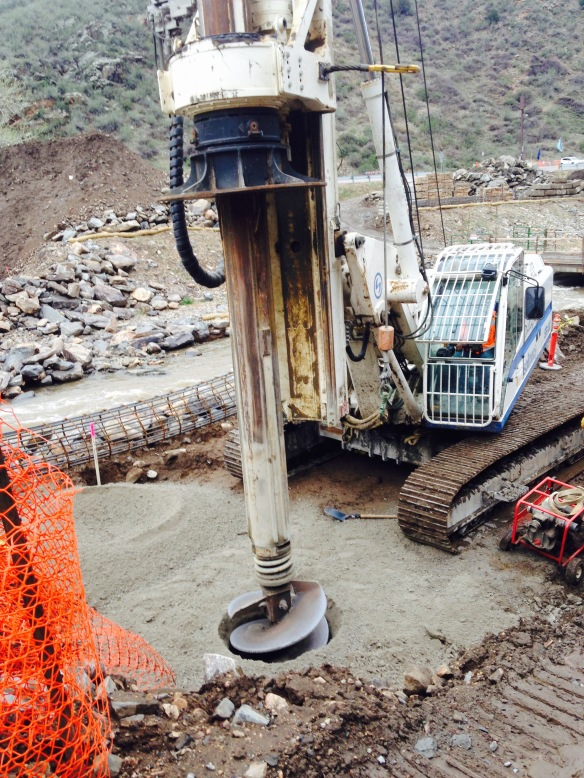 Drilling Maygem Caissons