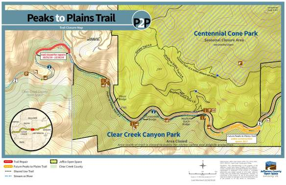 P2P Clear Creek closure Oct-Dec 2016