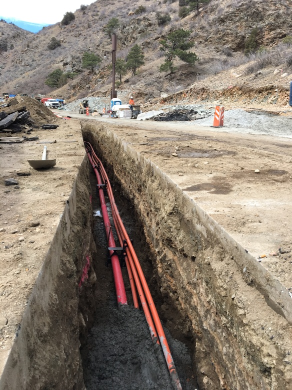 Fiberoptic lines being buried