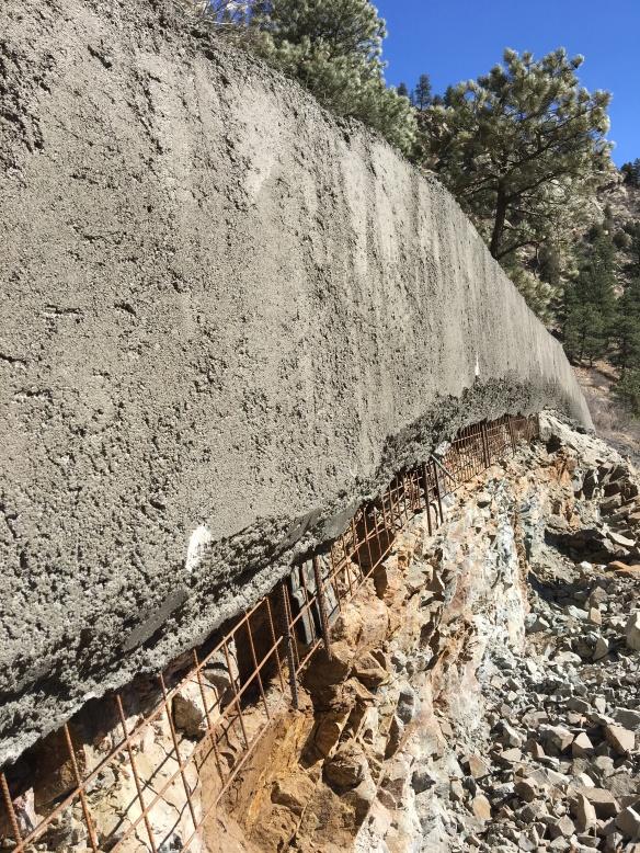 Stone wall finish