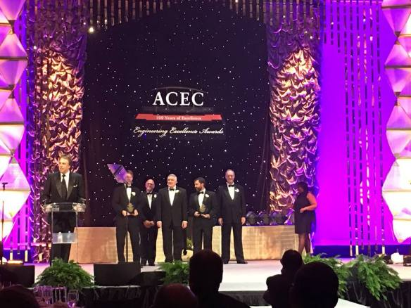 JCOS and Muller Engineering accept ACEC award
