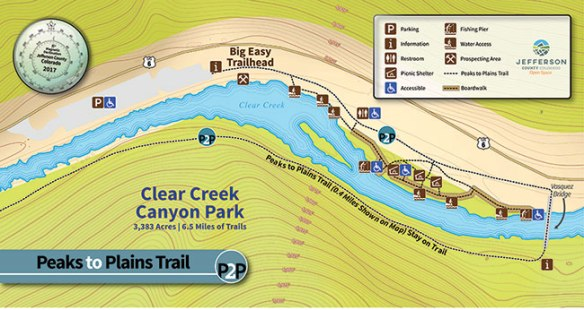 Big Easy Trailhead recreation area map